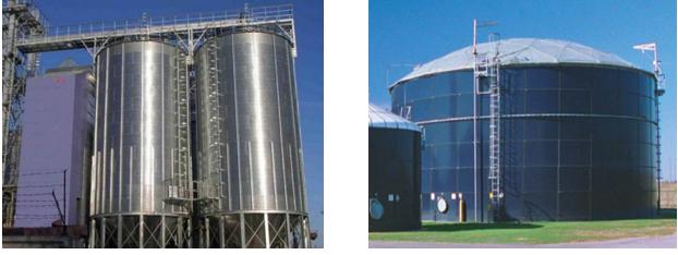 Réservoir et silo métallique